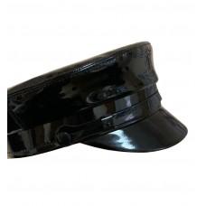 Кепи-картуз черный лак T196