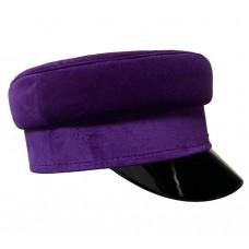 Кепи-картуз фиолетовый бархат T197