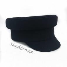Картуз-кепи черный T047