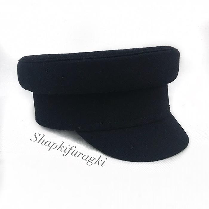 Картуз-кепи черный женский T047
