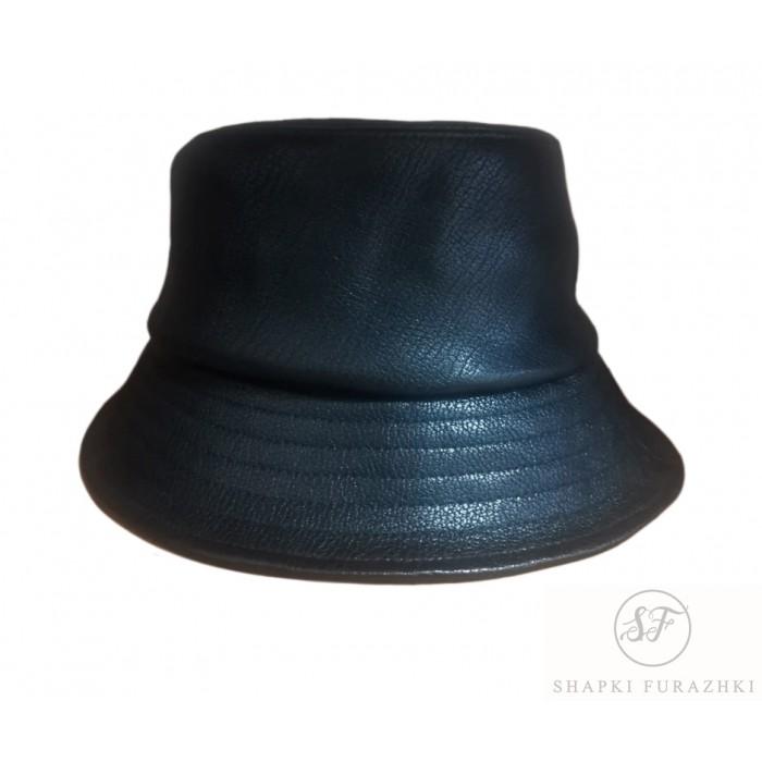 Женская кожаная шляпа панама