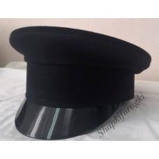 Картуз мужской, черный деним, окол 6 см, TK066