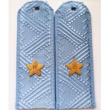 Погоны Полиции голубые, ручная вышивка P081