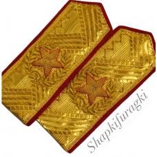 Погоны с ручной вышивкой, индивидуальный заказ P046