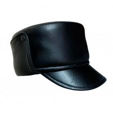 Мужская кожаная шапка SH039