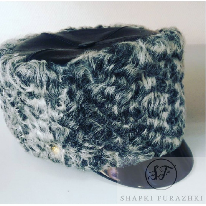 Шапка серый каракуль SH013