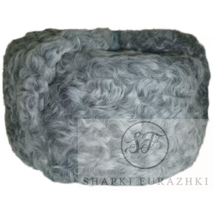 Шапка-ушанка серый каракуль SH006