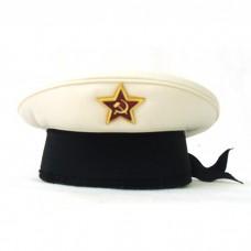 Сувенирная бескозырка ВМФ белый верх S014