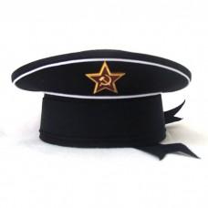 Сувенирная бескозырка ВМФ черный верх S015