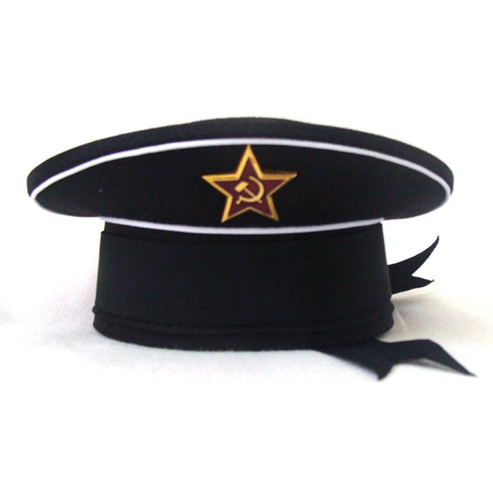 Сувенирная бескозырка ВМФ черный верх, артикул S015