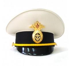 Сувенирная фуражка ВМФ белый верх S013