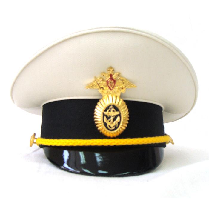 Сувенирная фуражка ВМФ белый верх, артикул S013