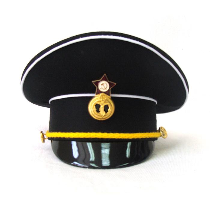 Сувенирная фуражка ВМФ черный верх, артикул S012