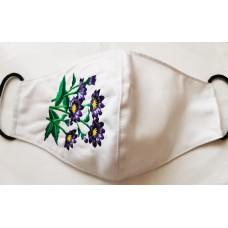 Маска защитная белый цвет, вышивка VOV008