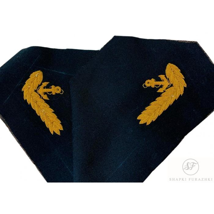Воротник ВМФ с ручной вышивкой KRV015-1