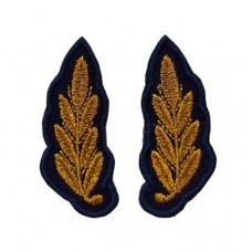 Вышивка на воротник офисной формы синего цвета ВВС РФ V056