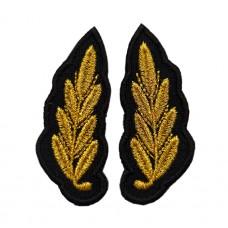 Вышивка на воротник офисной формы зеленого цвета МО РФ V055