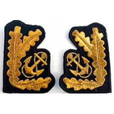 Машинная вышивка на воротник ВМФ V025