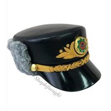Шапка кожа, каракуль, Туркменистан SH036