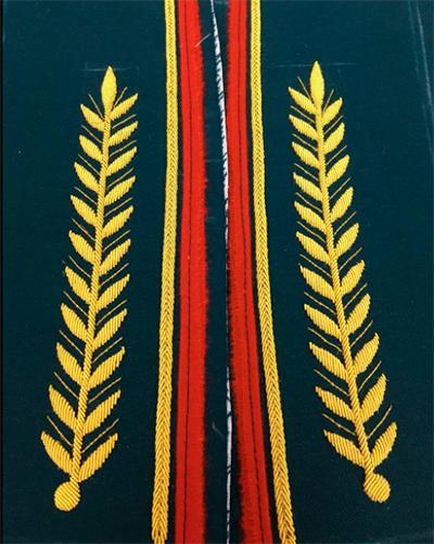 Пошив формы с ручной вышивкой